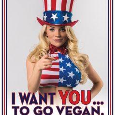 PETA. Hazte vegetariano, dicen
