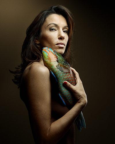 La actriz Aure Atika (foto: Denis Rouvre)