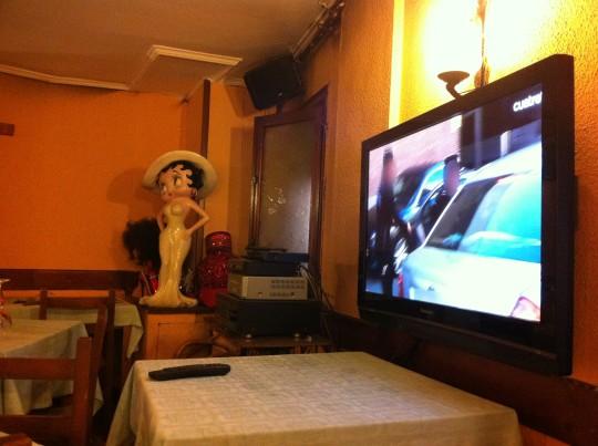 Detalle del comedor principal del restaurante Miren Itziar (foto: Cuchillo)