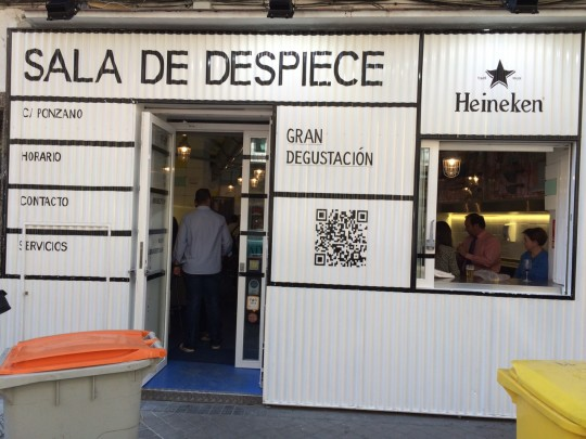 Entrada de la Sala de Despiece, en Ponzana 11 (foto: Bonilla)