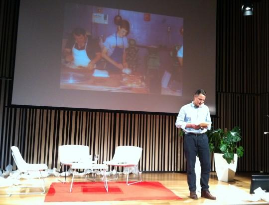 Claus Meyer, copropietario de Noma, durante su intervención en Culinary Action! (foto: Cuchillo)