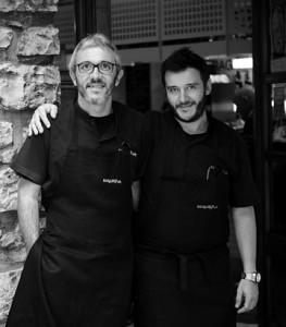 Esteban y Monty, del Bergara (foto: pinchosbergara.es)