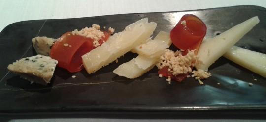 Tabla de tres quesos, en Cocinandos (foto: Susana)