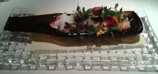 Ensaladilla marina con sabores iodados, cigalas y aguacate, en Ikea (foto: Susana)