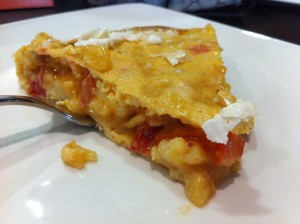 Tortilla, con tomate y queso, de La Galea (foto: Cuchillo)