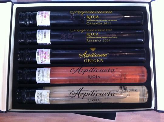 Las cinco variedades incluidas en Azpilicueta con los 5 sentidos (foto: Cuchillo)
