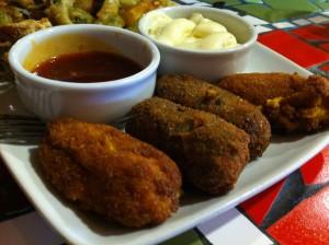Croquetas veganas, en Muga (oto: Cuchillo)