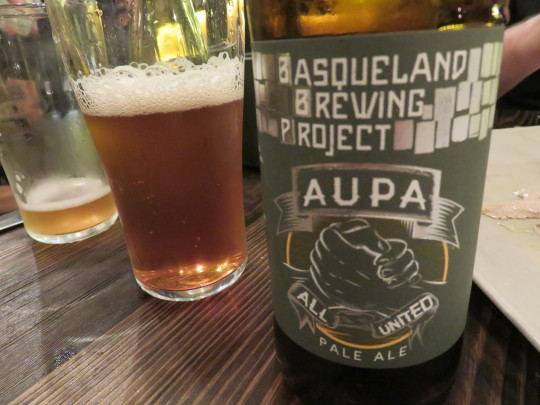 Aupa, la pale ale de Basqueland Brewing Project (foto: Cuchillo)