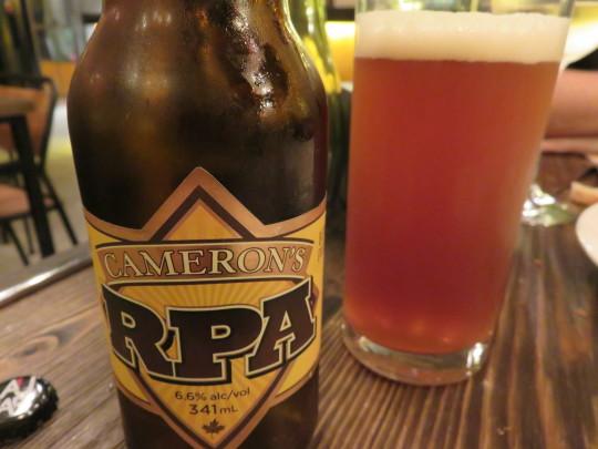 RPA, la rye pale ale de Cameron, en Singular (foto: Cuchillo)