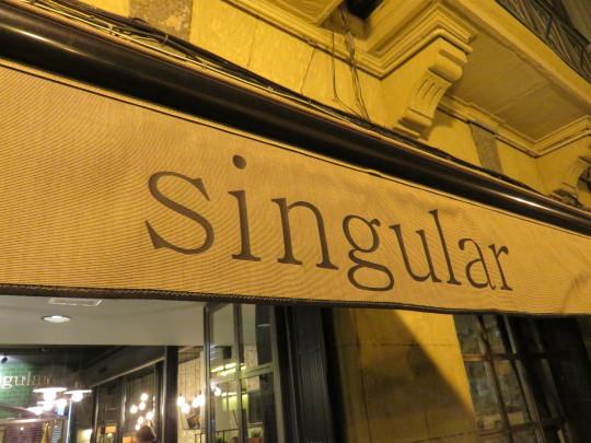 El toldo del Singular, ya tendido el manto de la noche sobre Bilbao (foto: Cuchillo)