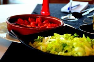 ensalada de lechuga y chorizo cocido, foto by zuloko