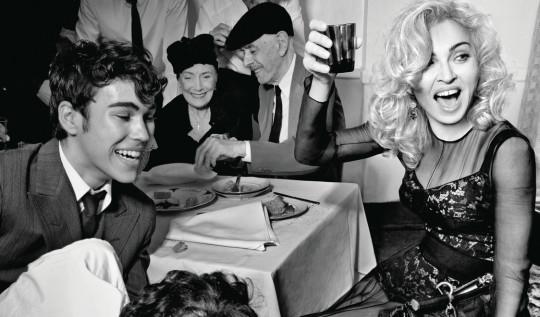 Madonna, en bellísima imagen de la cual no conocemos autoría...