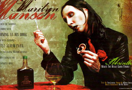Marilyn Manson absenta