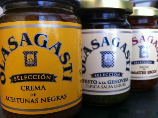 Están bien ricas las salsas de Olasagasti (foto: Cuchillo)