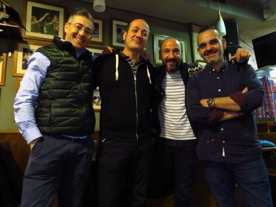 El Cuarteto de la Muerte: Asier Bastida, Igor Cubillo, Ramón Rafols y Joseba Irusta (foto: Cuchillo)