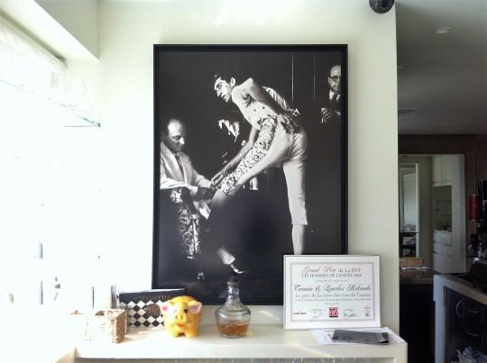 Detalle muy taurino en la recepción del restaurante Rekondo (foto: Cuchillo)