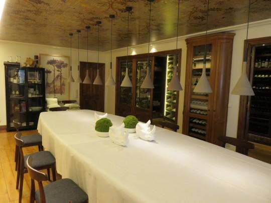 Un reservado de lujo en la bodega del restaurante Rekondo (foto: Cuchillo)