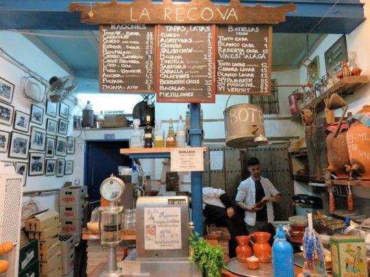 La zona de barra de La Recova (foto: Igor Cubillo)
