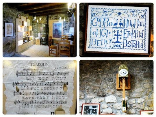 Detalles del interior de Doniene Gorrondona, en Bakio (foto: Cuchillo)