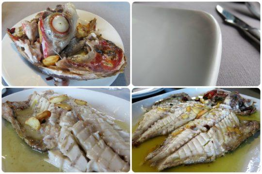 Besugo, pues no faltan los pescados a la parrilla en Laia (fotos: Cuchillo)