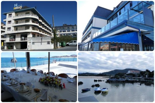 Edificio, comedor y entorno de Hotel Restaurante Astuy (fotos: Cuchillo)
