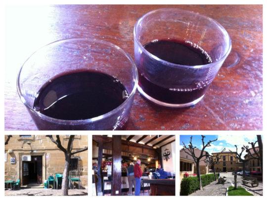 A 70 céntimos despachan el vino de año en el bar Juamba, en Briñas (fotos: Cuchillo)