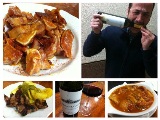 Picoteo fino y buen vino, en bar Rafa, en Getxo (foto: Cuchillo)