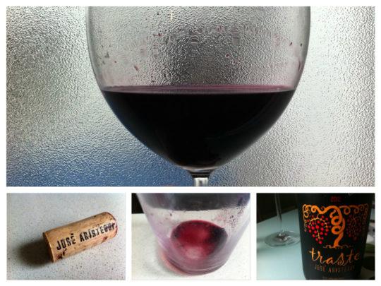 Traste, un buen vino del viticultor José Luis Aristegui (fotos: Cuchillo)