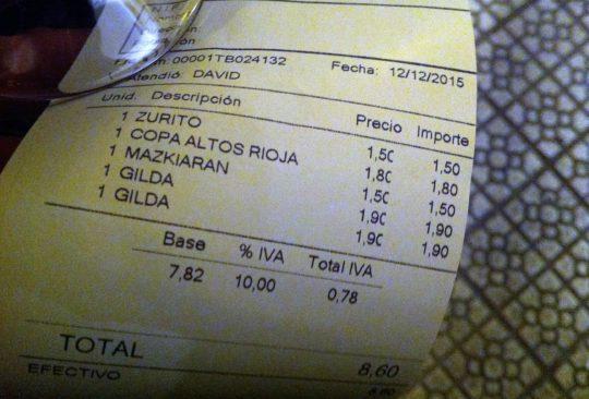 Un ticket con mucho delito, reflejo de los males del nuevo Bilbao (foto: Cuchillo)