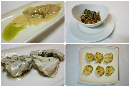 Ravioli, hongos y kokotxas, tres grandes propuestas de Antonio bar (fotos: Cuchillo)