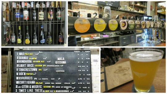 Cerveza a tutiplén, gran reclamo de Mala Gissona Beer House (fotos: Cuchillo)