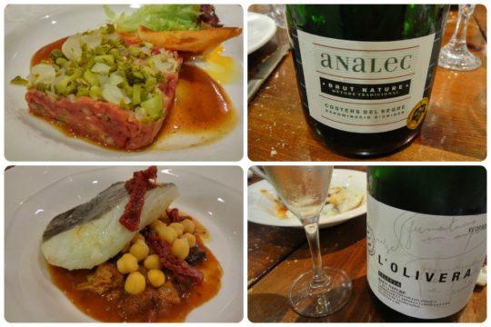 Steak tartar y bacalao con callos y cap i pota, en Unión Artesana (fotos: Cuchillo)