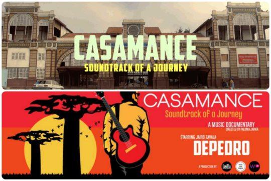Cartelería a propósito de 'Casamance. Soundtrack of a journey', documental de Paloma Zapata.