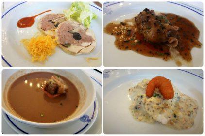 Cuatro platos del Bikaiko Txakolina Forum (fotos: Cuchillo)