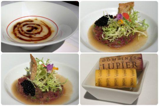 Flan de foie y tartar de atún, en Zuberoa (fotos: Cuchillo)