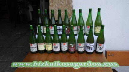 Distintas marcas de sidra elaboradas en Bizkaia (foto: Cuchillo)