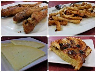 Salmonetes, calamares, queso y trenza, en Muguruza (fotos: Cuchillo)