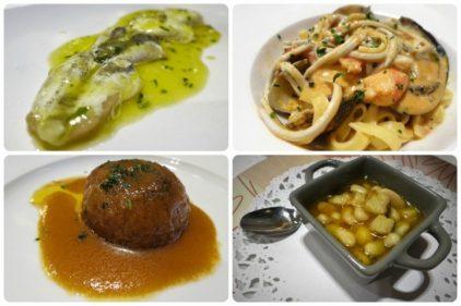 Kokotxa, angula, cebolla y faba, en Aratz (fotos: Cuchillo)