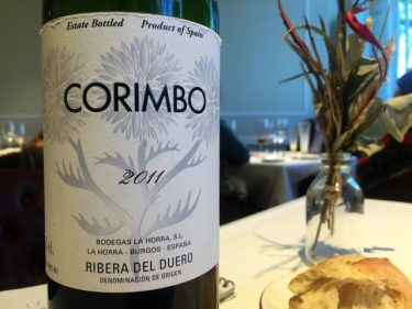 La etiqueta de Corimbo, en Guria (foto: Cuchillo)