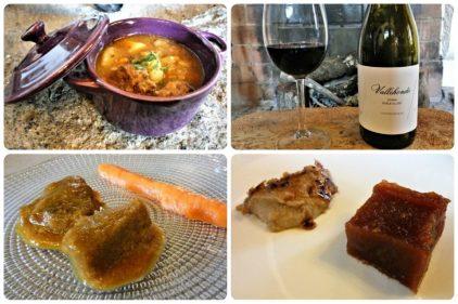 Papas, vino, lengua, membrillo y gachas, en Arrieros (fotos: Cuchillo)