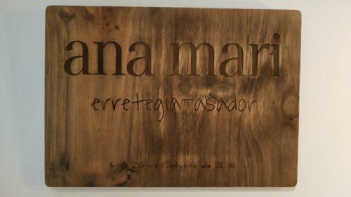 Letrero colocado en el interior de Ana Mari (foto: Cuchillo)