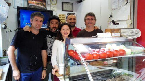 Elena Arzak junto a Josean Alija, Diego Guerrero, Gökmen Sözen y Andoni Luis Aduriz, durante un viaje a Turquía (foto: Cuchillo)