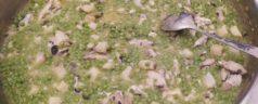 Guisantes tiernos con bacalao,  por Txema Llamosas (Recetas para una cuarentena #20)