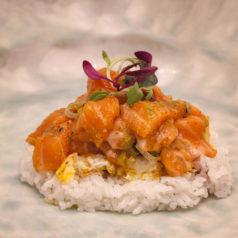 Tartar de salmón con foie, por Ricardo Sanz (Recetas para una cuarentena #82)