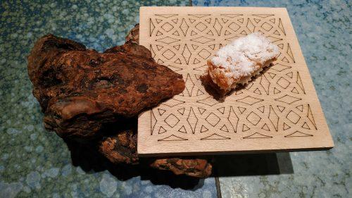 Milhojas de Idiazabal, en Disfrutar (foto: Cuchillo)