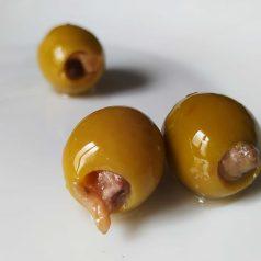 Aceitunas El Xillu con lomo de anchoa. Otra historia
