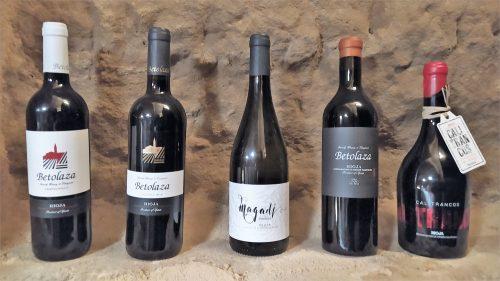 Los cinco vinos que comercializa Betolaza (foto: Cuchillo)