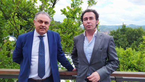 José Luis Nieto y Luis Castro, en Mirador de Ulía (foto: Cuchillo)